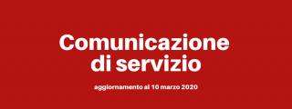 Comunicazione di servizio - aggiornamento